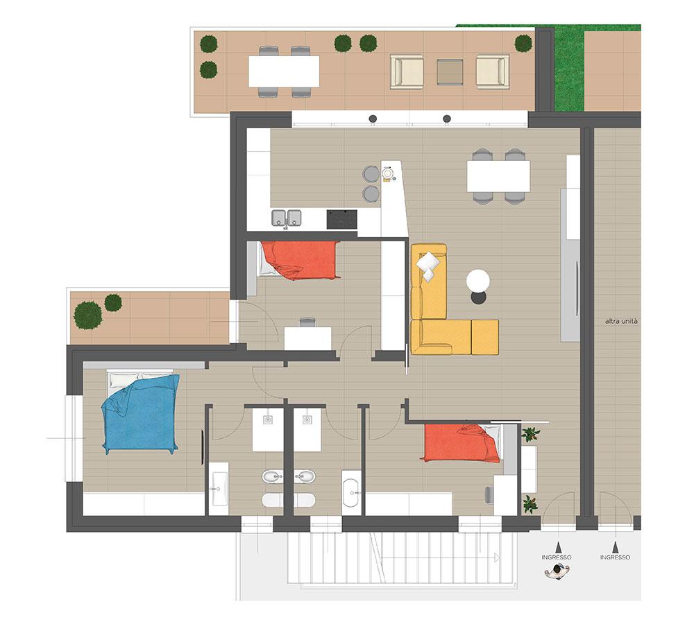 GFA Immobiliare | Residenza Camilla - Piano Terra Sud