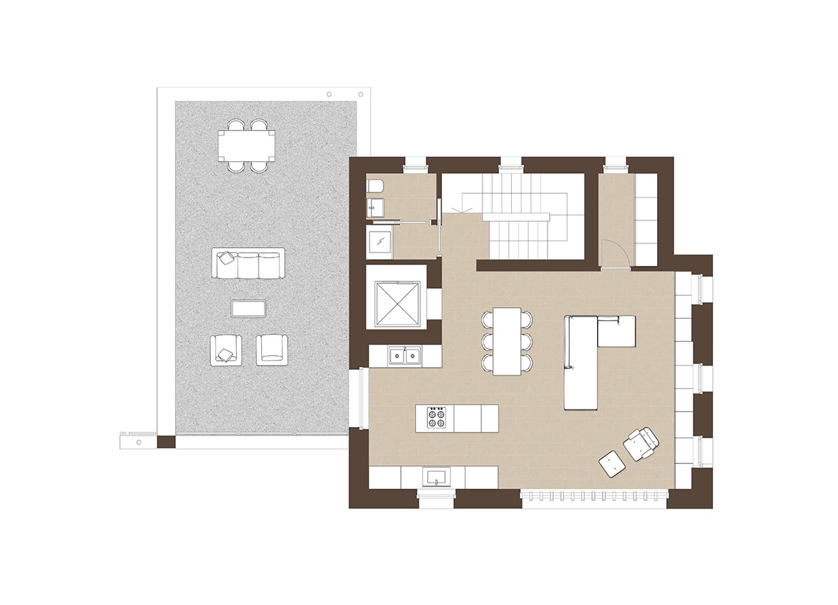 Corte Casara | Appartamento 13, zona giorno