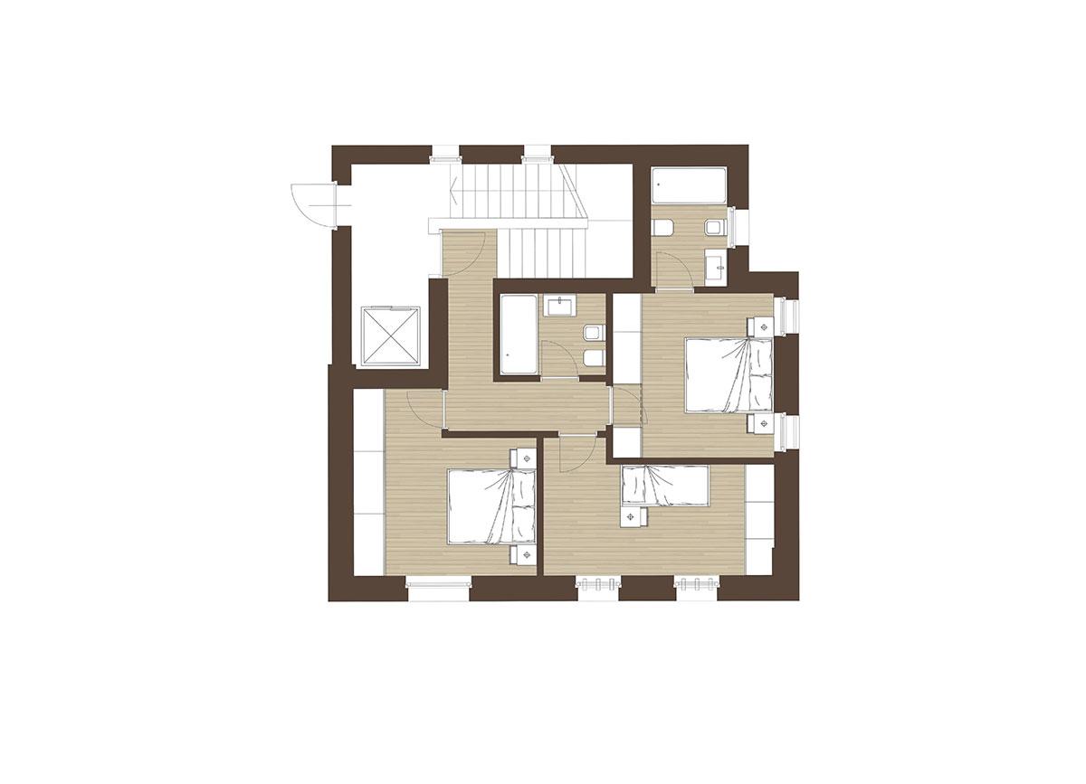 Corte Casara | Appartamento 13, zona notte